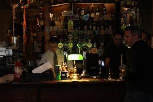 Manning the bar